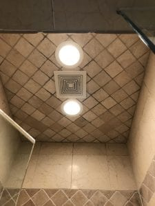 An example of recessed lighting